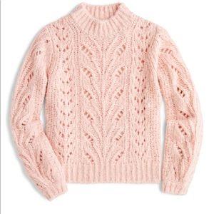 Point Sur J.Crew alpaca pointelle knit sweater